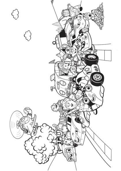 Раскраска Рори и гоночная компания | Чудо ребенок