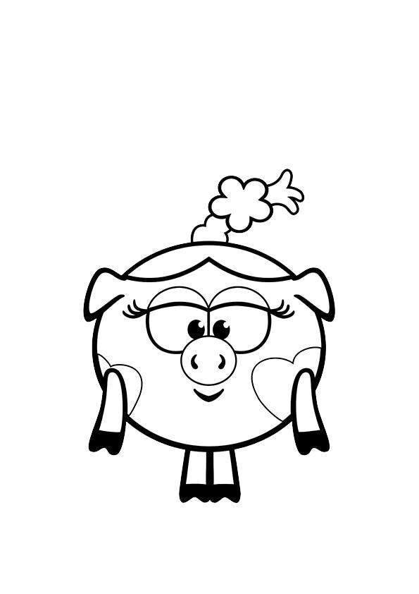 Раскраска Девочка–хрюшка Нюша | Смешарики | Чудо ребенок