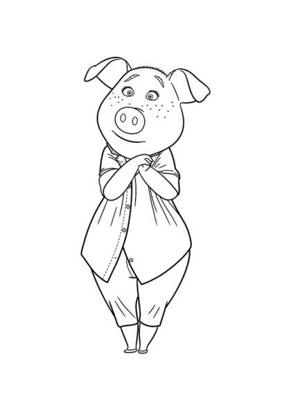 Раскраска Свинья-домохозяйка Розита скачать или распечатать