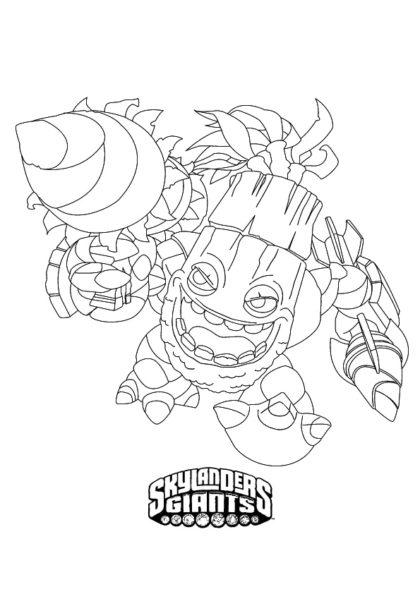 Раскраска Скайлендер–бамбазукер Зук скачать или распечатать
