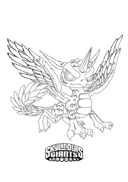 Раскраска Единорог–дракон Уэрлвинд | Чудо ребенок