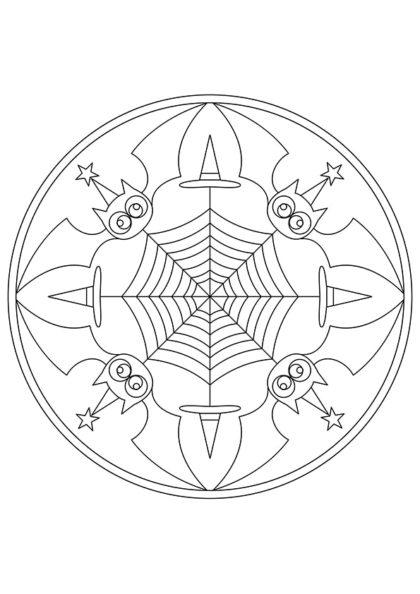 Раскраска Мандала Символ ночи скачать или распечатать