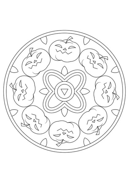 Раскраска Мандала Блуждающие огоньки скачать или распечатать