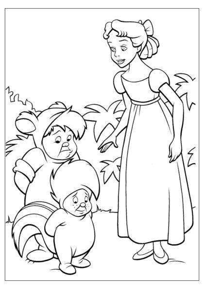 Раскраска Венди прощает мальчишек скачать или распечатать