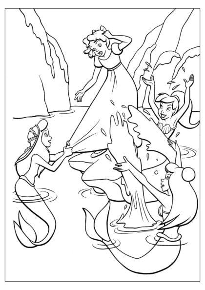 Раскраска Венди в Лагуне Русалок скачать или распечатать