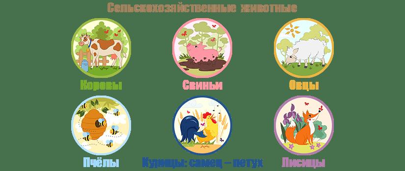 Сельскохозяйственные животные – примеры раскрашивания