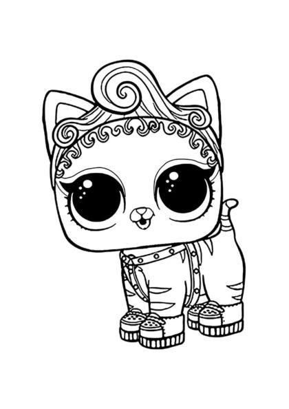 Раскраска Питомец котёнок Мур скачать или распечатать
