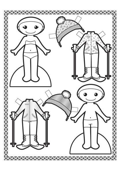 Раскраска Лыжный костюм скачать или распечатать