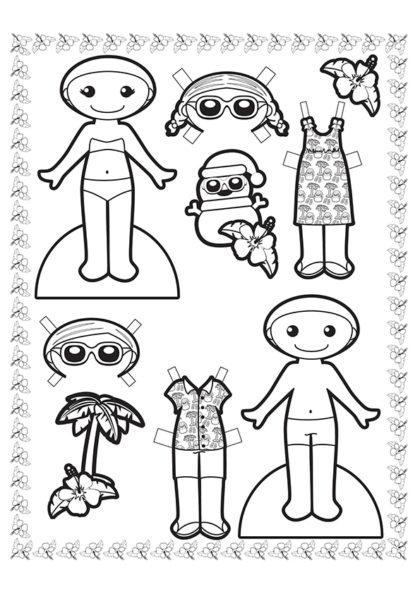 Раскраска Гавайский костюм скачать или распечатать
