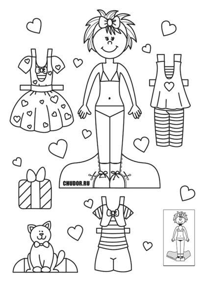 Раскраска Вероника и День Святого Валентина скачать или распечатать