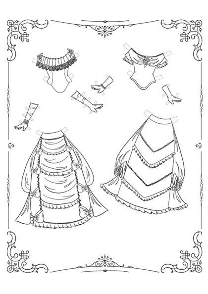 Раскраска Маленькие Леди: Лист одежды 15 скачать или распечатать