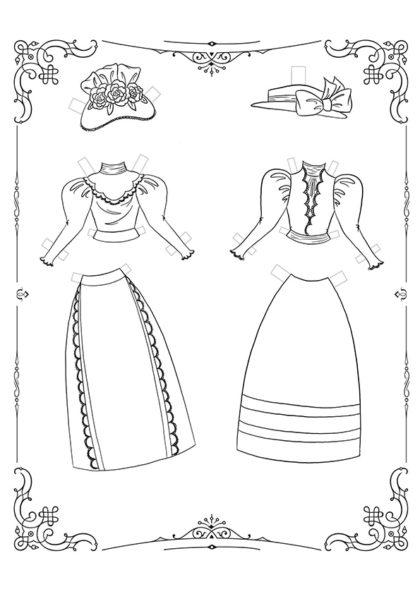 Раскраска Маленькие Леди: Лист одежды 14 скачать или распечатать