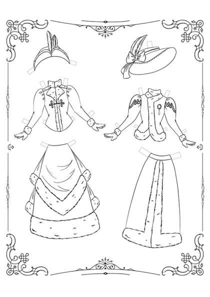 Раскраска Маленькие Леди: Лист одежды 13 скачать или распечатать
