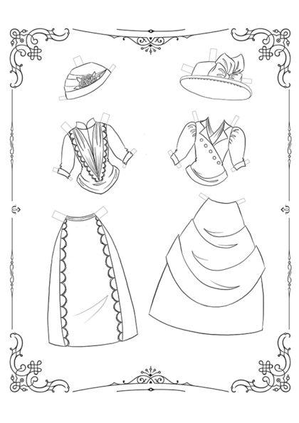 Раскраска Маленькие Леди: Лист одежды 12 скачать или распечатать