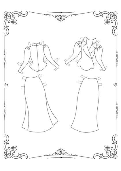 Раскраска Маленькие Леди: Лист одежды 11 скачать или распечатать