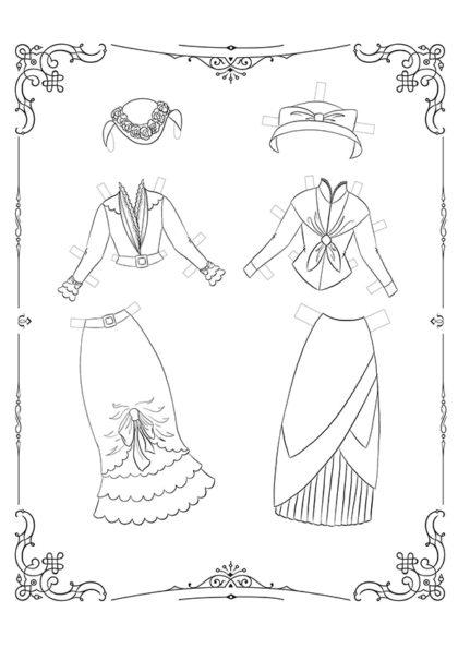 Раскраска Маленькие Леди: Лист одежды 9 скачать или распечатать
