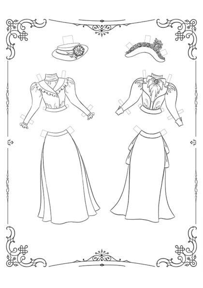 Раскраска Маленькие Леди: Лист одежды 2 скачать или распечатать