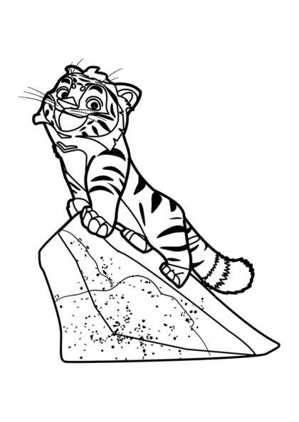 Раскраска Тиг на скале скачать или распечатать
