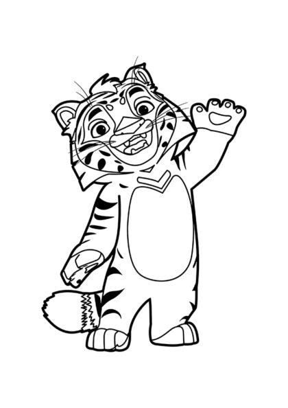 Раскраска Тигрёнок Тиг скачать или распечатать