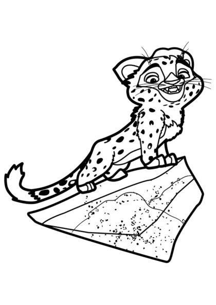 Раскраска Лео на скале скачать или распечатать